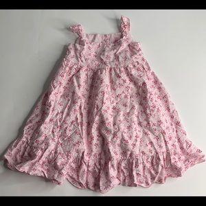 Camilla Girls Pink Dress Sundress Floral Hearts